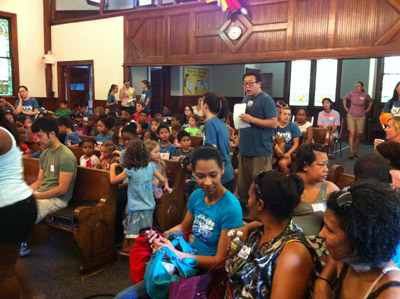 Kids at CCFC's Vacation Bible School