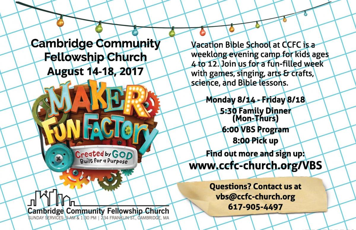 2017 CCFC Vacation Bible School Flier